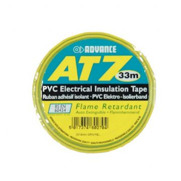 PVC Tape, 19mm - Green/Yellow